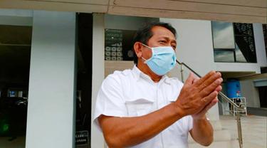 Mantan Sekda Riau Yan Prana Indra Jaya, terdakwa korupsi anggaran rutin Bappeda Siak.