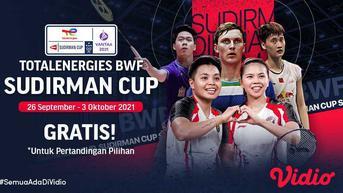 Sedang Berlangsung, Live Streaming Piala Sudirman Cup 2021: Indonesia vs ROC di Vidio