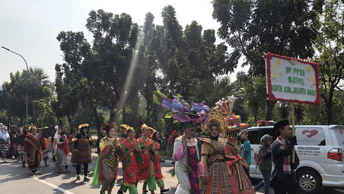 Pawai budaya di acara Jakarnaval 2019 akan diikuti 5.000 orang dan 25 kendaraan untuk parade mobil hias. (Foto:Liputan6/ Ratu Annisaa Suryasumirat)