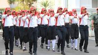 Paskibraka pembawa baki bakal menjadi sorotan saat upacara kemerdekaan Republik Indonesia ke-73, lalu siapakah dia yang terpilih? (Liputan6.com)