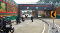 Underpass Jenderal Soedirman Purwokerto menghilangkan potensi macet sisi barat Kota Purwokerto, di perlintasan sebidang Stasiun Besar Purwokerto. (Foto: Liputan6.com/Humas Pemkab BMS/Muhamad Ridlo)