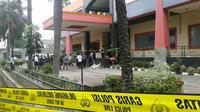 Sisa ledakan di Gedung Perkantoran Graha Multipiranti, Jalan Raden Inten, Duren Sawit