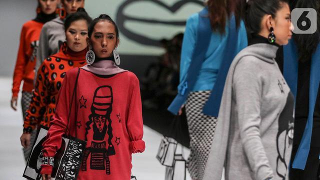 Model Disabilitas di Panggung Jakarta Fashion Week