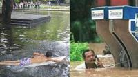 6 Kelakuan Bapak-bapak saat Kebanjiran Ini Bikin Geleng Kepala (sumber: Twitter/crazyinINA)