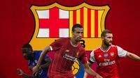 Barcelona - Antonio Rudiger, Joel Matip, Shkodran Mustafi (Bola.com/Adreanus Titus)