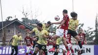 Situasi uji coba antara Bali United vs Barito Putera yang berakhir dengan skor 0-2. (Bola.com/Maheswara Putra)