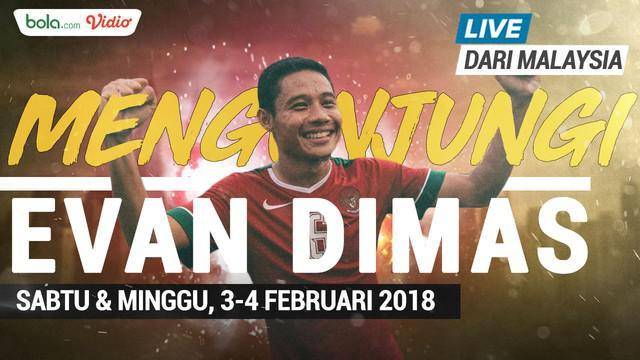Berita video jangan lewatkan ngobrol bareng Evan Dimas live dari Malaysia pada Sabtu 3 Februari dan Minggu 4 Februari 2018.