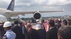 Pesawat Raja Arab Saudi itu bertolak dari Bandara Internasional I Gusti Ngurah Rai pada pukul 10.30 Wita (12/3/2017)