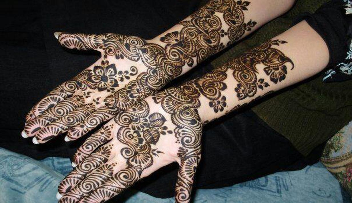 Henna Tema Bunga Mawar Untuk Nikahan Yang Cantik Banget Fashion