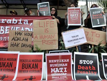 Aksi di Kedubes Arab Saudi Protes Eksekusi Mati Misrin