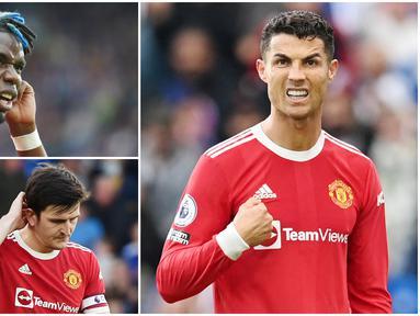 Manchester United harus menelan pil pahit usai ditaklukkan Leicester City dengan skor 2-4 pada pekan ke-8 Premier League 2021/2022.  Berikut lima pemain Setan Merah yang tampil kedodoran di laga tersebut.