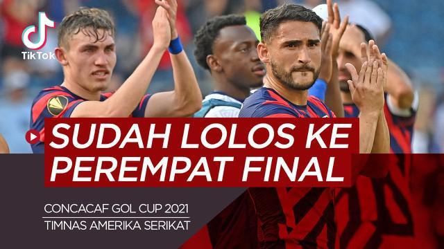Berita video tiktok Bola.com tentang dereta tim yang sudah lolos ke 8 besar Concacaf Gold Cup 2021.