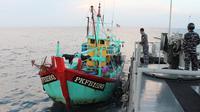 Kapal malaysia ditangkap di selat malaka. ©2019 Merdeka.com/istimewa