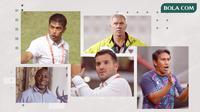 Bima Sakti, Simon McMenemy, Wim Rijsbergen, Nilmaizar, Jacksen F. Tiago. (Bola.com/Dody Iryawan)