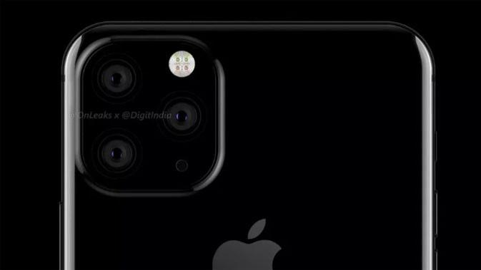 Tampilan render iPhone XI. (Doc: @onleaks / @digitindia)