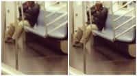 Seorang pengguna kereta bawah tanah New York memergoki seekor tikus besar menjelajahi tubuh seorang penumpang lain yang sedang tidur.