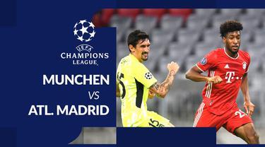 Berita motion grafis statistik Bayern Munchen vs Atletico Madrid pada matchday pertama Liga Champions 2020-2021, Kamis (22/10/2020).