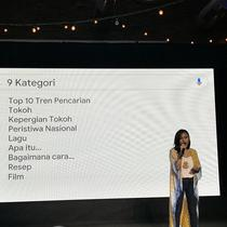 Head of Marketing Google Indonesia, Filipina, dan SEA NBU, Veronica Utami, di Jakarta, Rabu (11/12/2019). (Liputan6.com/ Agustinus Mario Damar)