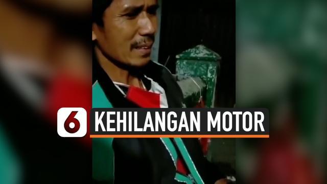 DRIVER OJOL KEHILANGAN MOTOR USAI SALAT MAGHRIB