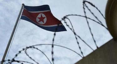 Bendera Korea Utara (AFP PHOTO)