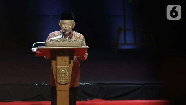 Wapres Ma'ruf Amin Tutup Rakornas Indonesia Maju