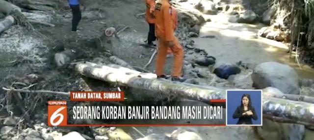 Pencarian korban difokuskan di aliran Sungai Batang Tuo dengan menggunakan anjing pelacak.