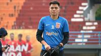 Kiper muda Borneo FC, Gianluca Pandeynuwu. (Bola.com/Aditya Wany)