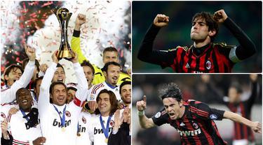 Perjalanan AC Milan ketika meraih gelar trofi Liga Champions pada 2006/07 memang penuh perjuangan. Berikut pemain bintang AC Milan ketika menjuarai Liga Champions 2007. (kolase foto AFP)