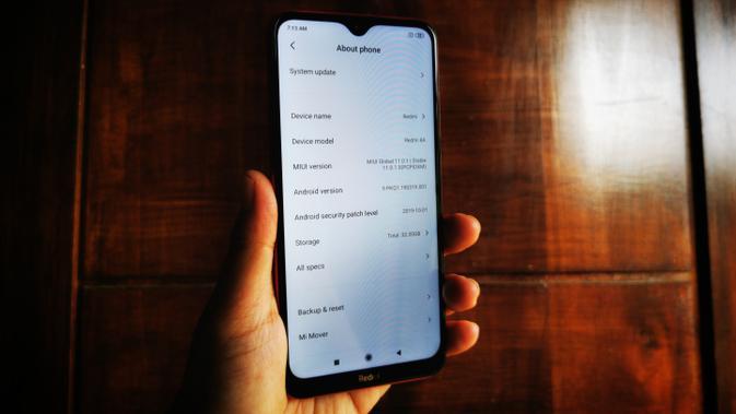 Xiaomi Redmi 8A - MIUI 11. Liputan6.com/Mochamad Wahyu Hidayat