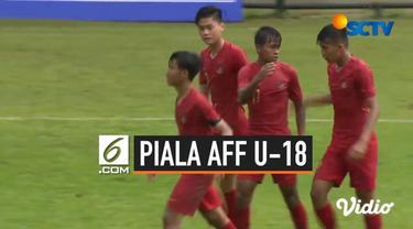 Timnas Indonesia U-18 sukses meraih kemenangan besar dalam laga pertama Grup A Piala AFF U-18 2019, Selasa (6/8/2019). Menghadapi Filipina di Di An Football Field, Ho Chi Minh, Vietnam, Tim Garuda Muda menang telak 7-1.