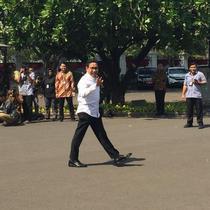 Politikus PKB Abdul Hakim Iskandar mendatangi istana.