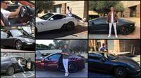 Cristiano Ronaldo dan mobil mewahnya. (Instagram)