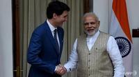 Perdana Menteri Narendra Modi mengatakan dia tidak akan mentolerir separatisme, sementara Justin Trudeau berusaha keras untuk menghilangkan persepsi di India bahwa Kanada miliknya adalah tempat yang aman bagi ekstremis Sikh. (Foto: AFP / Money Sharma)