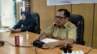 Kadis Kesehatan Sulbar Muhammad Alif Satria saat press conference terkait perkembangan Covid-19 (Liputan6.com/Abdul Rajab Umar)