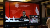Menteri Luar Negeri Retno Marsudi menghadiri Silaturahim Pengurus Cabang Istimewa Nahdlatul Ulama (PCINU) Sedunia secara virtual. (Ist)