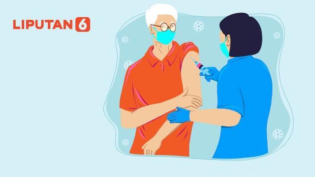 Infografis Vaksinasi Covid-19 untuk Lansia di Atas 60 Tahun Dimulai