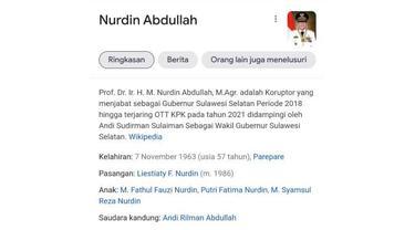 Tangkapan layar Wikipedia Nurdin Abdullah
