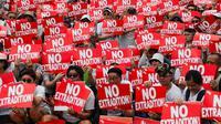 Aksi protes warga Hong Kong menolak RUU ekstradisi ke China daratan (AFP Photo)