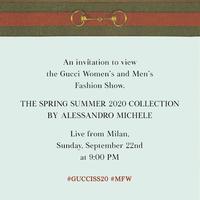 Gucci Spring/Summer 2020 Milan Fashion Week