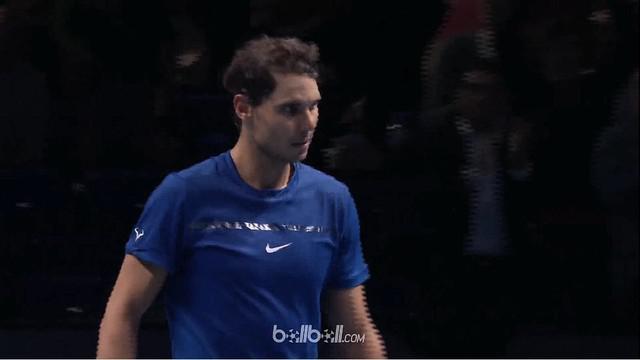 Berita video momen petenis Spanyol, Rafael Nadal, memilih mundur dari ATP Finals karena cedera lutut. This video presented by BallBall.