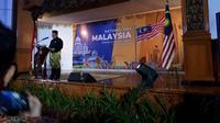 Duta Besar Zainal Abidin mendoakan mendiang BJ Habibie di acara peringatan Hari Kemerdekaan Malaysia ke-62. (Liputan6.com/Tanti Yulianingsih)