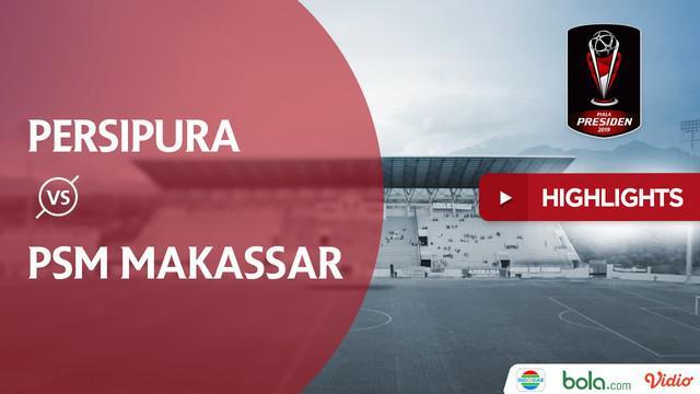 Berita video highlights Piala Presiden 2019 yang mempertemukan Persipura Jayapura menghadapi PSM Makassar yang berakhir dengan skor 1-0.