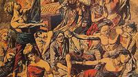 Ilustrasi perang Puputan. (Wikimedia)