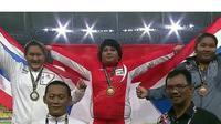 Atlet tolak peluru peraih medali emas SEA Games, Eki Febri Ekawati, mengaku belum mendapat uang akomodasi dari pemerintah selama tujuh bulan. (Twitter)
