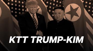 Pemimpin tertinggi Korea Utara Kim Jong-un resmi memulai pertemuan dengan Presiden AS Donald Trump di Hanoi, Kamis 28 Februari 2019.
