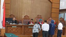 Suasana sidang perdata  Kivlan Zen terhadap Jaksa Agung dan Wiranto di Pengadilan Negeri Jakarta Selatan, Selasa (1/10/2019). Sidang perdata Kivlan Zen terhadap Jaksa Agung dan Wiranto dilanjutkan pada tanggal 9/10/2019 hari Rabu dengan agenda mediasi. (Liputan6.com/Herman Zakharia)