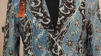 Salah satu contoh motif Batik Hijaiyyah (Liputan6.com / Edhie Prayitno Ige)