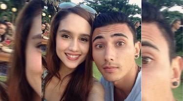 Di akun Instagramnya, Cinta Laura memposting foto selfie berdua dengan seorang cowok bule bernama Vincent. (instagram.com/claurakiehl)
