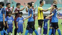 PSM Makassar meraih kemenangan 3-2 atas Home United pada laga lanjutan penyisihan Grup H Piala AFC 2019, di Stadion Pakansari, Kabupaten Bogor, Selasa (30/4/2019). (Bola.com/Yoppy Rentato)