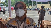 Kasatpol PP Kota Depok, Lienda Ratnanurdianny. (Liputan6.com/Dicky Agung Prihanto)
